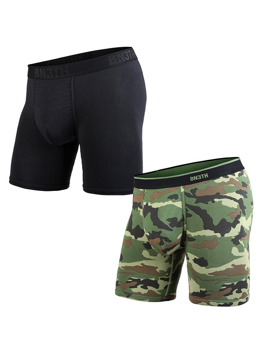 BN3TH 2pk Boxer Brief-Black Camo