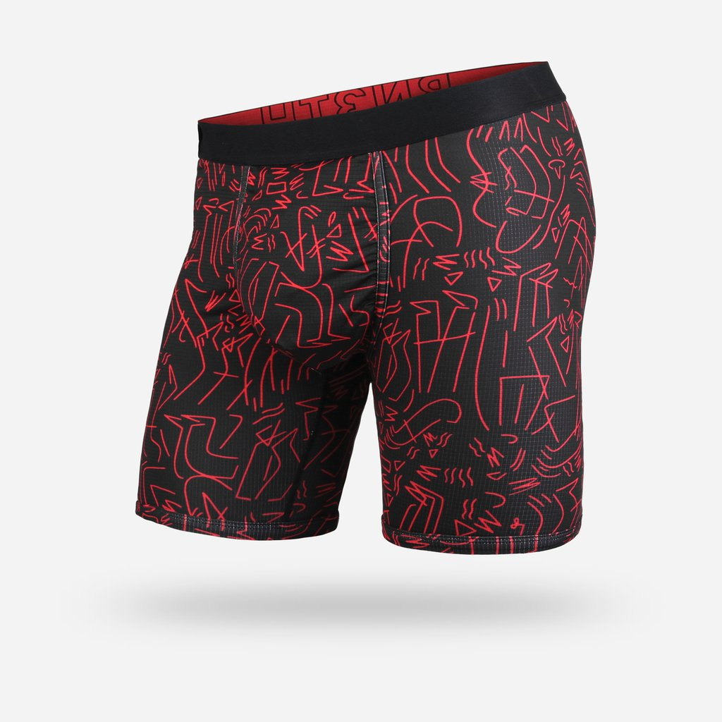 BN3TH Entourage Boxer Brief- LBX Black/Red