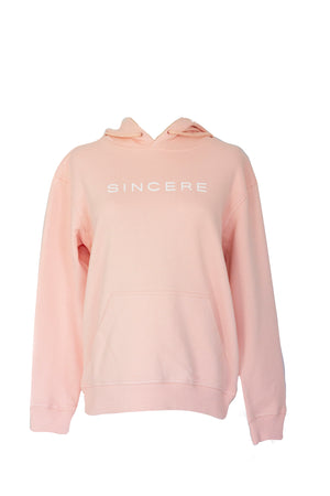 SINCERE SIGNATURE HOODIE IN BLUSH - we are sincere
