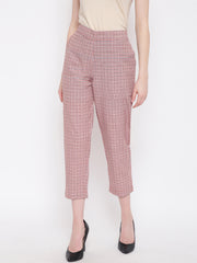 Fabnest women pant in checks