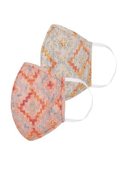 Fabnest Womens Multicolour Printed Face Masks Pack Of 2