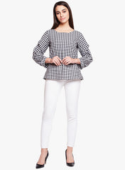 Black & White Check Top
