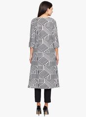 Geometric Pattern Asymmetrical Tunic