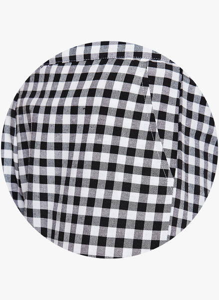 Fabnest Women's cotton black and white check pants.