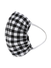 Fabnest Unisex Black/White Dark Blue/White Purple/White Check Face Masks Pack Of 3