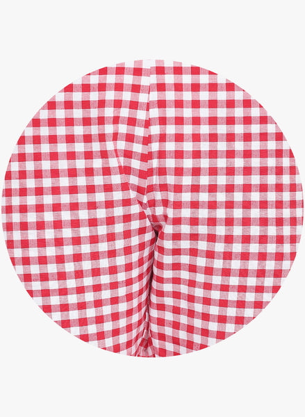 Fabnest womens handloom cotton red and white check pants