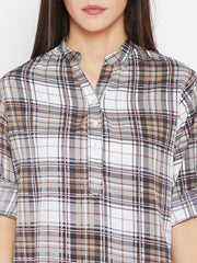 Fabnest women check-plaid top