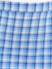 Fabnest womens blue check skirt