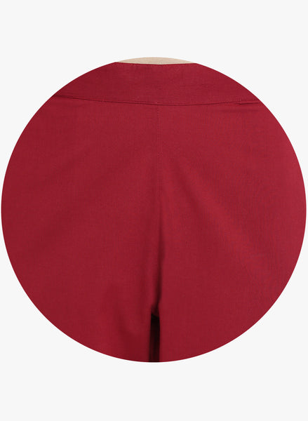 Fabnest Maroon Gota Cotton Pants