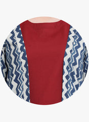 Fabnest Indigo Hand Block Printed Cotton Cape/Jacket
