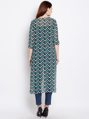 Women's Cape in Chevron Print