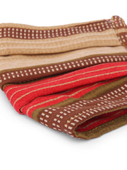 Fabnest Unisex Rayon 3 Ply Brown/Red Multi Printed Comfortable Face Masks (Pack Of 2)