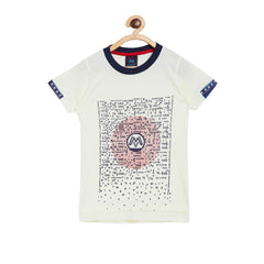 Moppet boys printed cotton round neck tshirt