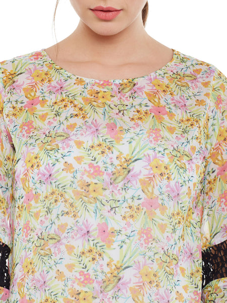 FABNEST WOMENS FLORAL PRINT MULTI TOP