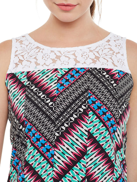 Fabnest womens printed multi-colour top