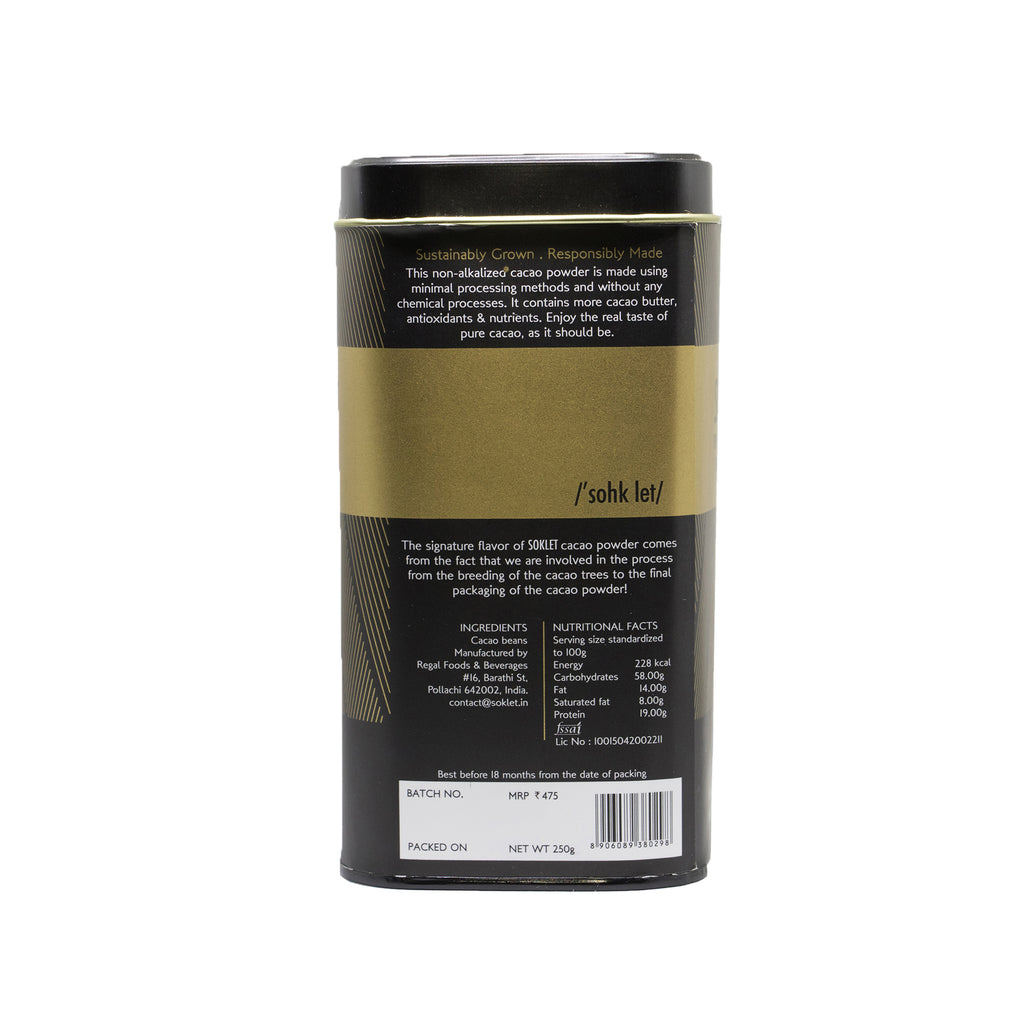 100% Cacao Powder (Non-Alkalised)