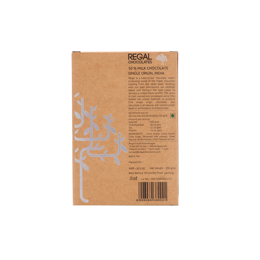 50% Milk Chocolate Gourmet Baking Bar
