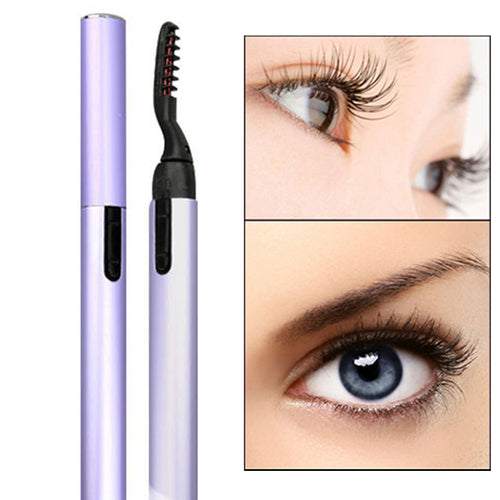 Mini Electric Heated Eyelash Makeup Curler Pen