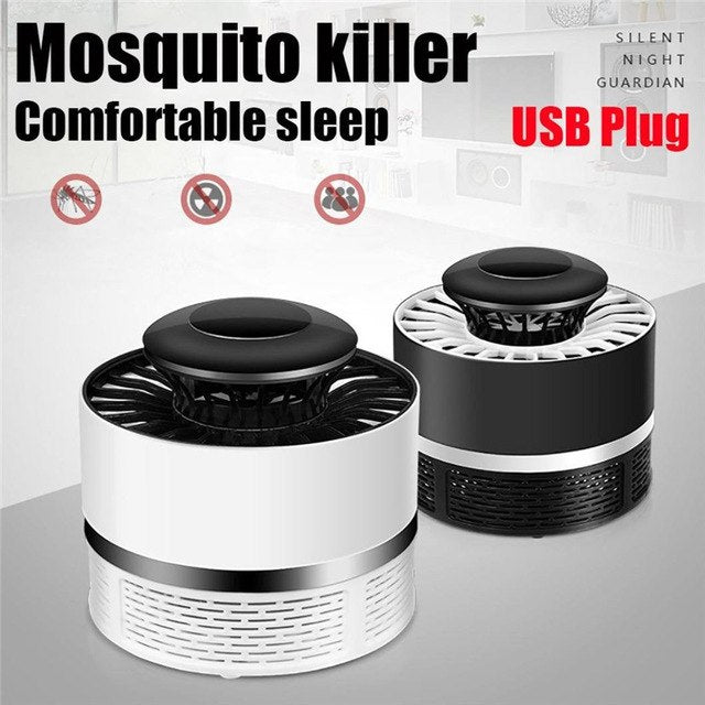 USB Electronic Mosquito Killer Lamp Pest Control Electric Mosquito Killer Fly Trap LED Light Lamp Bug Insect Repeller Zapper - DubaiHQ