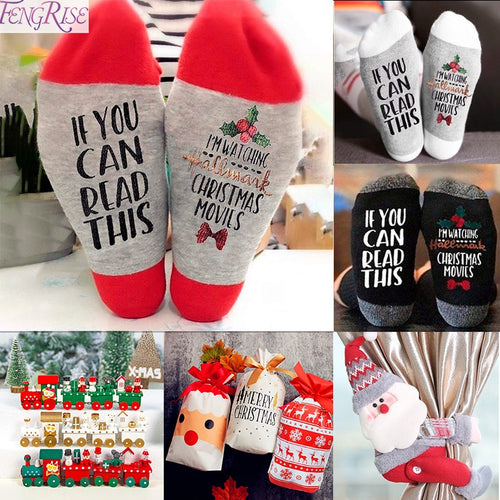 1 Pair Christmas Cotton Socks