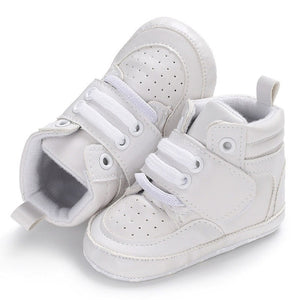 Newborn Baby Boy Girl Soft Sole Crib Shoes