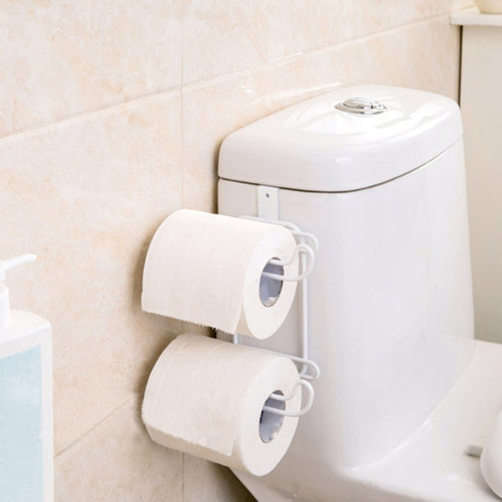 Bathroom Toilet Seat Roll Paper Holder
