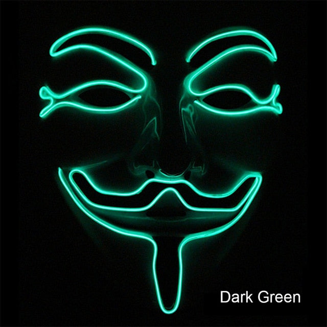 Guy Fawkes Party Led Masks