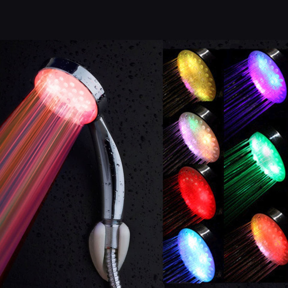 7 Color Romantic Automatic Magic  5 LED Lights Shower