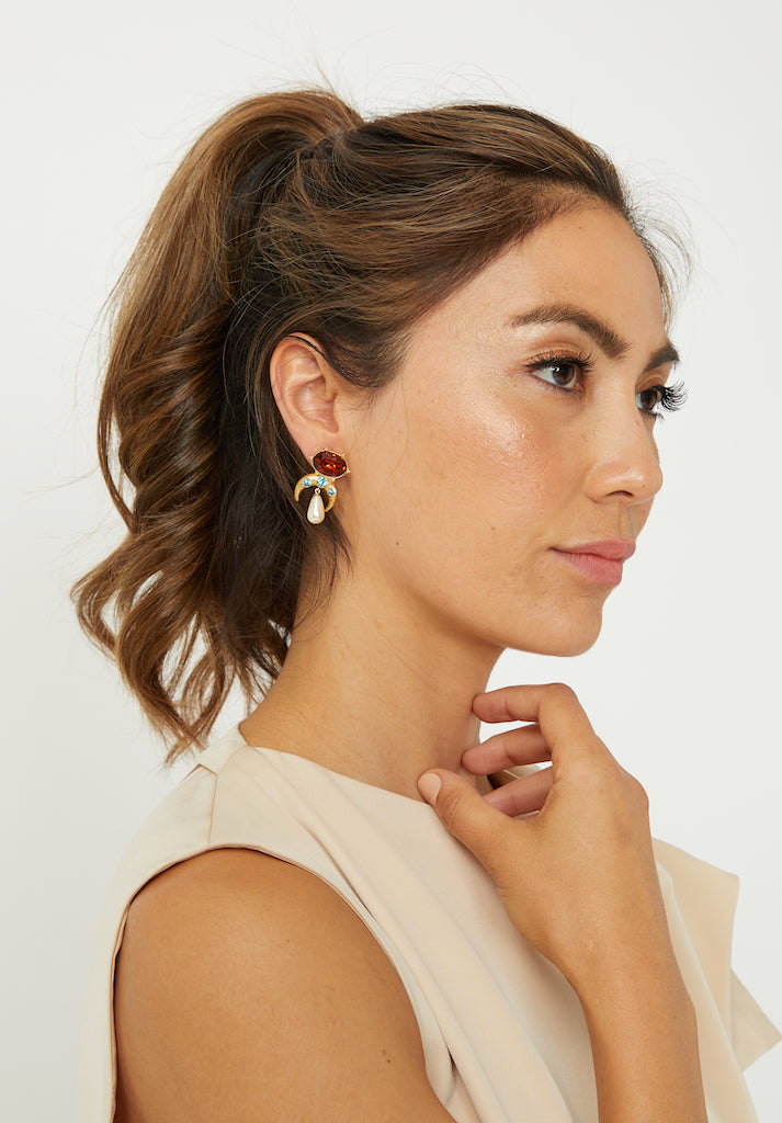 STELLE STUD EARRINGS - ZEKA MANFRED