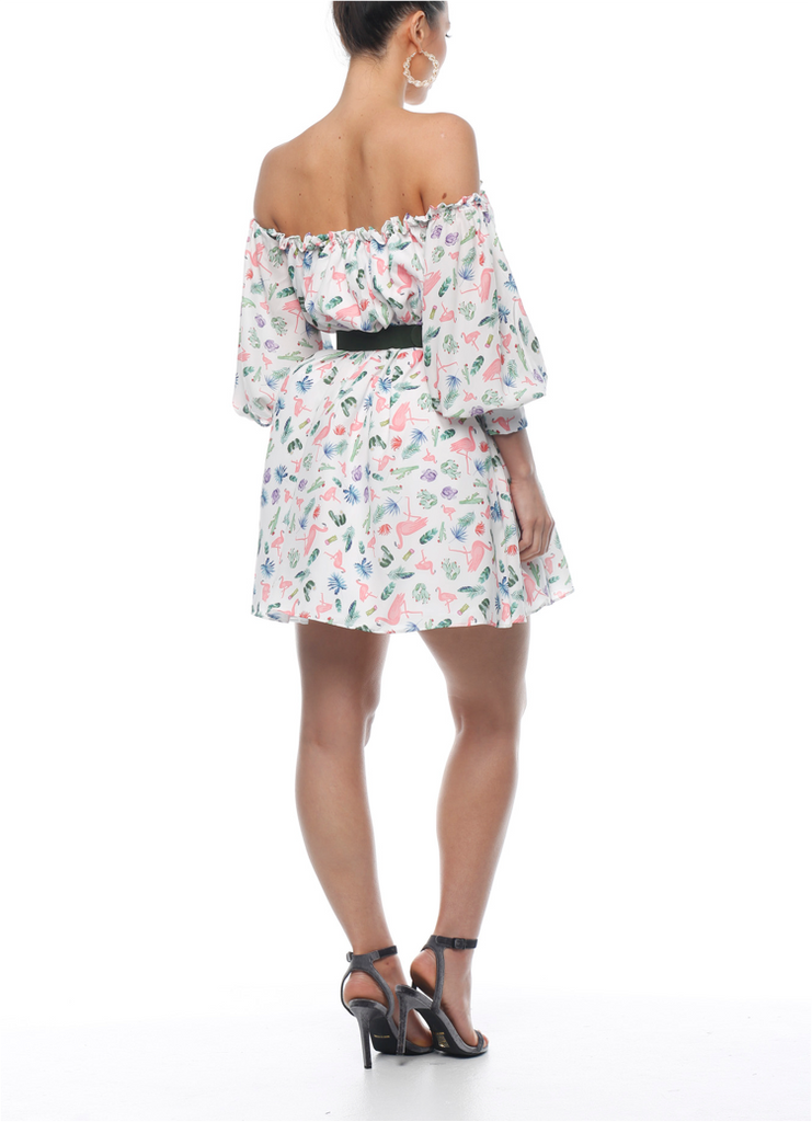 Cabana Off Shoulder Dress - ZEKA MANFRED