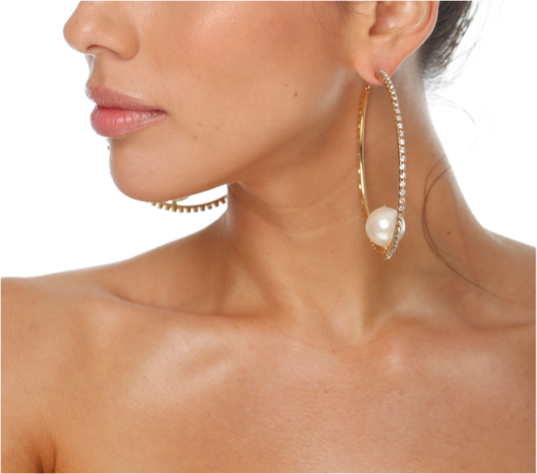 Pearl of the Disco Earring