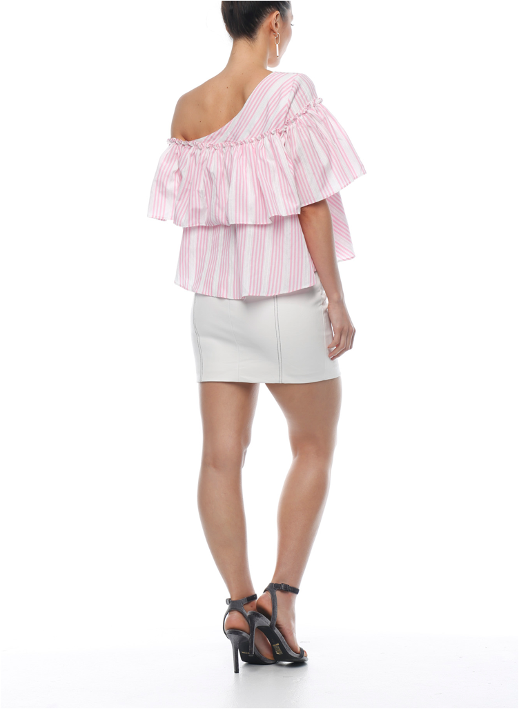 Rosa Ruffle Top - Candy