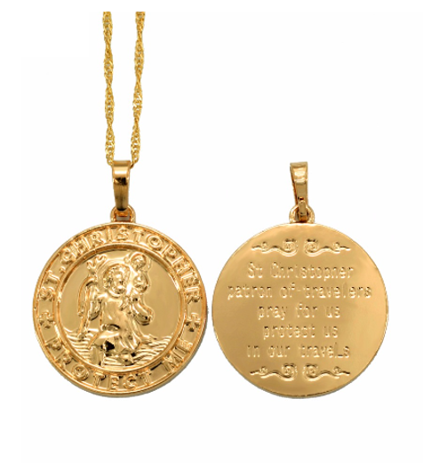 St Christopher Necklace - ZEKA MANFRED