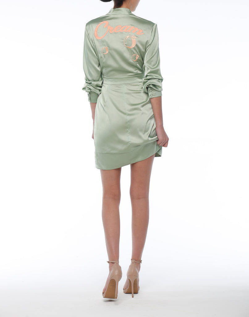 Cream Wrap Dress - ZEKA MANFRED