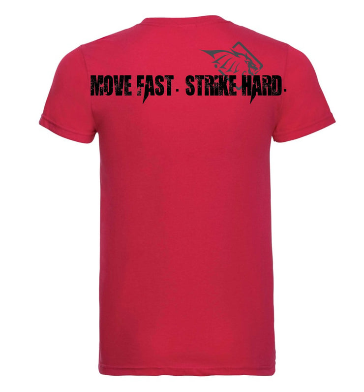 KST Shirt - Red - Move Fast Strike Hard