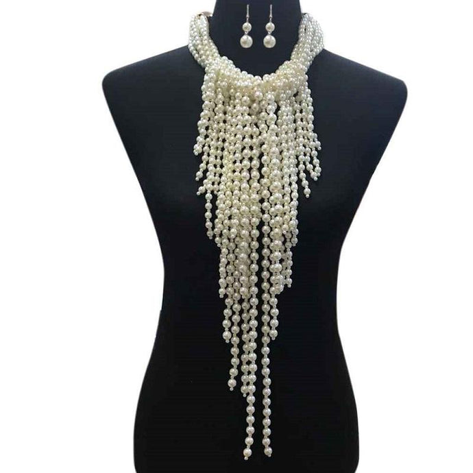 Full Chest Ivory Pearl Necklace