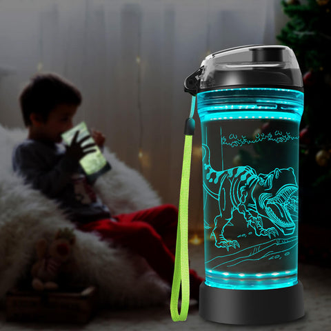 Roar t rex water bottle