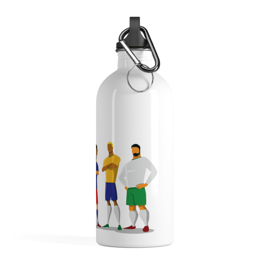 Soccer Player Stainless Steel Water Bottle