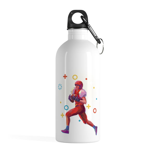 American Football Stainless Steel Water Bottle