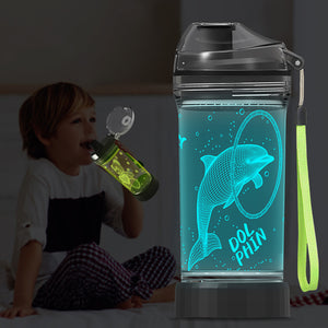 New Dolphin 3D Glowing Water Bottle