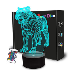 Lovely Leopard 3D Illusion Lamp