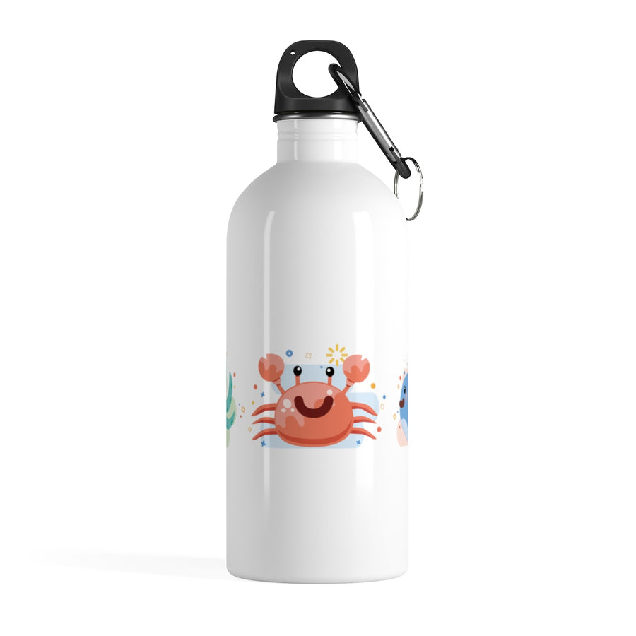 Sea World Turtle Crab Whale Stainless Steel Water Bottle