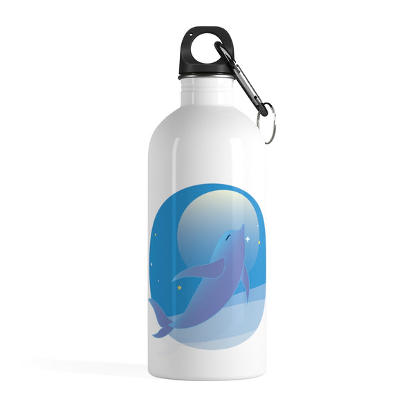 Happy Dolphin Stainless Steel Water Bottle