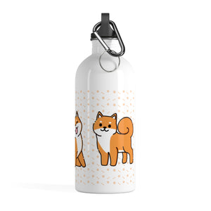 Shiba Inu Stainless Steel Water Bottle