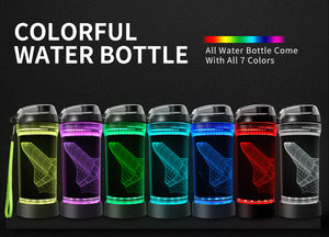 Aircraft 3D Glowing Water Bottle