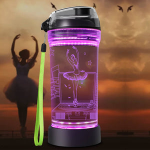 Ballet 3D Glowing Water Bottle