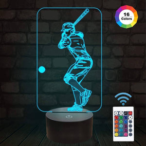 Baseball 3D illusion Lamp