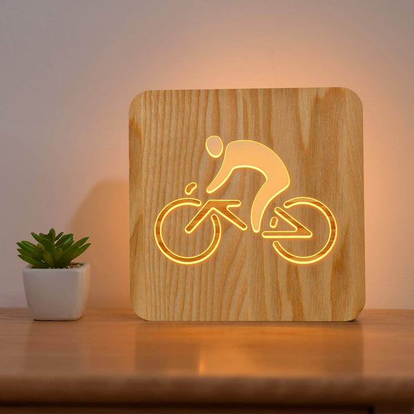 Cycling Wooden Lamp