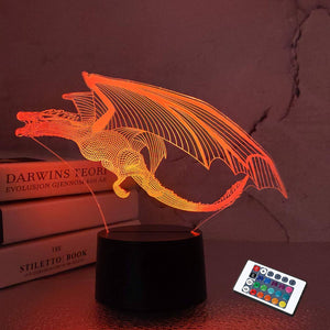 Dragon 3D Illusion Lamp