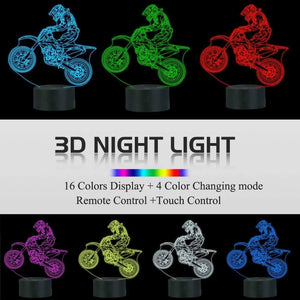 Dirt Bike 3D Illusion Lamp
